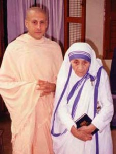 Radhanath Swami with Mother Teresa